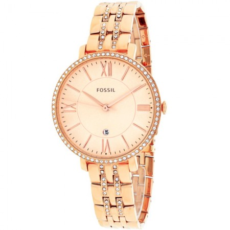 Women's Jacqueline Rose Gold Tone Dial Rose Gold Tone Stainless Steel Band Quartz Watch