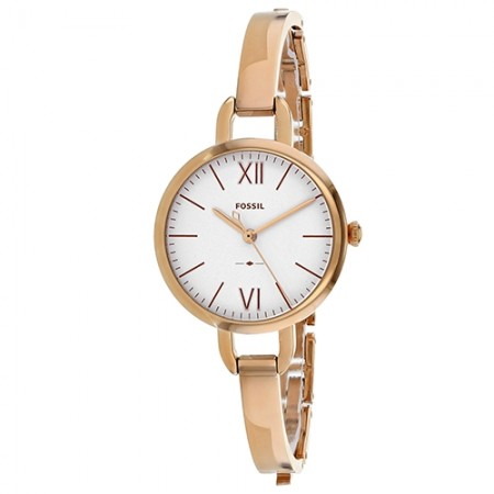 Women's Annette White Dial Rose Gold-Tone Stainless Steel Band Quartz Watch