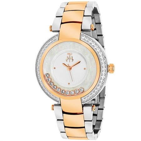 Women's Celebrate Pink Dial Rose Gold-Tone Stainless Steel Band Swiss Parts Quartz Watch