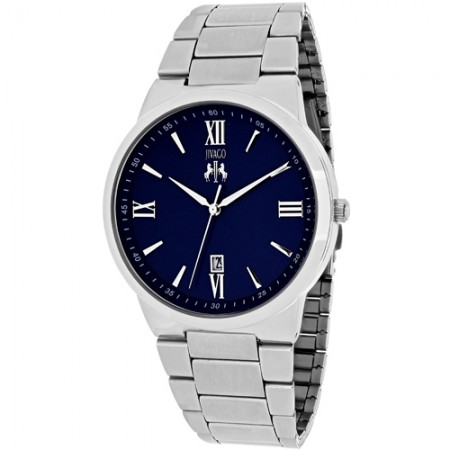 Men's Clarity Blue Dial Gun Metal Stainless Steel Band Quartz Watch