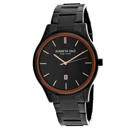 Men's 3-Hand Black Dial Black Stainless Steel Band Quartz Watch