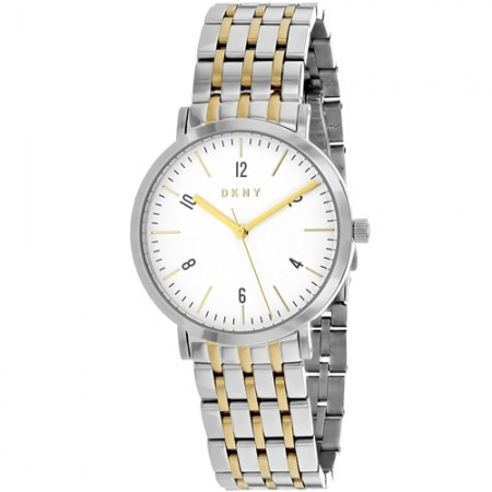 Women's Minetta White Dial Gun Metal Stainless Steel Band Quartz Watch