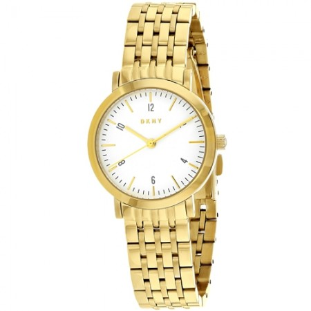 Women's Minetta White Dial Gold-Tone Stainless Steel Band Quartz Watch