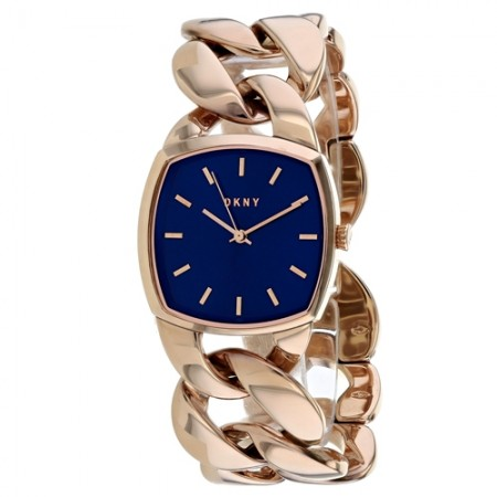 Women's Chanin Blue Dial Rose Gold-Tone Stainless Steel Band Quartz Watch
