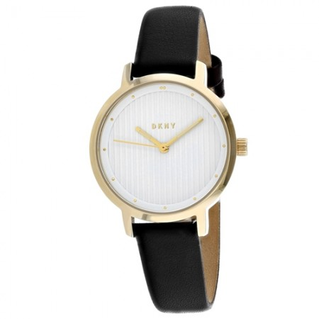 Women's The Modernist White Dial Brown Leather Band Quartz Watch