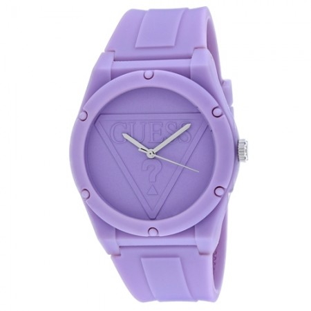 Women's Retro Pop Purple Dial Purple Rubber Band Quartz Watch