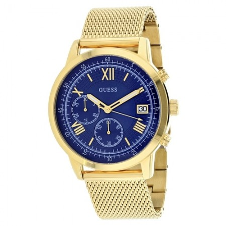 Men's Summit Blue Dial Gold-Tone Stainless Steel Band Quartz Watch