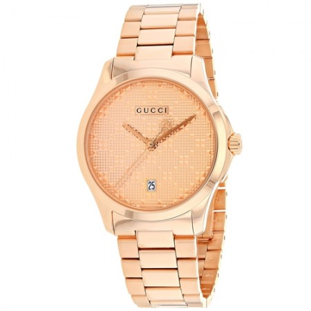 Women's G-Timeless Rose Gold-Tone Dial Rose Gold-Tone Stainless Steel Band Quartz Watch