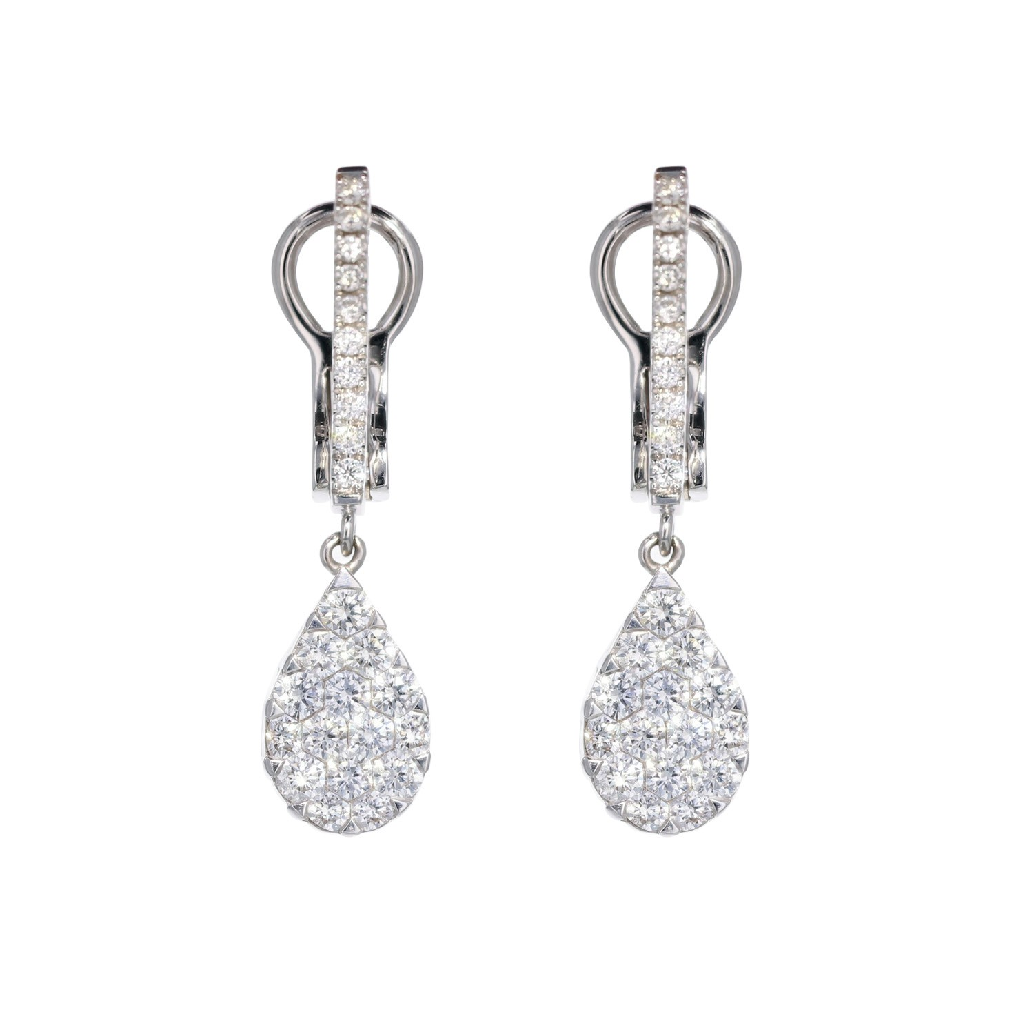 baguettes with shaped p lesley t earrings ann jewels diamond products pear collections rough